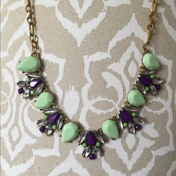 Mint&Purple Statement Necklace Beautiful mint and purple statement necklace. Perfect way to spice up any outfit Jewelry Necklaces