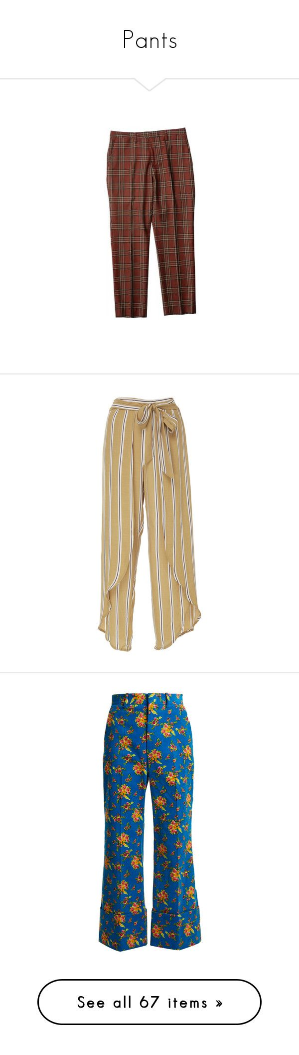 """""""Pants"""" by beatrizmx3 ❤ liked on Polyvore featuring pants, capris, bottoms, trousers, pantalones, slim fitted pants, cropped trousers, slim fit wool pants, brown slim pants and slim fit pants"""