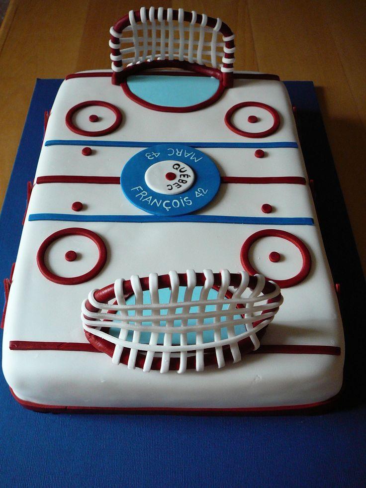 decoration gateau hockey