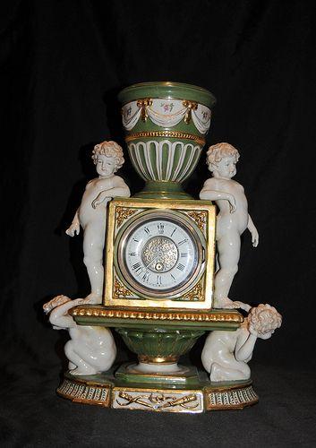 Sevres Porcelain Cherub Clock www.canonburyantiques.com