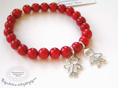 Kulki Sznurki-luksusowa biżuteria handmade z możliwością personalizowania. www.facebook.com/... bransoletki z zawieszkami zestaw na dzień kobiet, na walentynki, na święta. Pomysły na prezent #jade #red #kulkisznurki #walentynki #bransoletki #zawieszki #bracelets #valentinesday #stretchbracelets   #naszczescie #motherhood #children #boy #girl