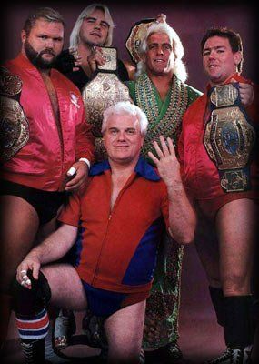 Arn Anderson, Barry Windham, Ric Flair, Tully Blanchard, and JJ Dillon
