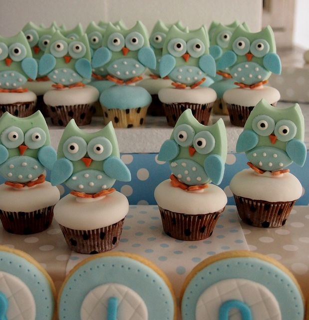 Baby Shower Cupcakes | owl mini cupcakes owl mini cupcakes for a baby shower