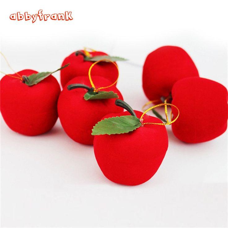 Abbyfrank 12 Adet/takım Yapay Kırmızı Elma Süsleme Kolye Köpük Yılbaşı Ağacı Noel Süslemeleri Asılı Eğlenceli Yenilik Oyuncaklar