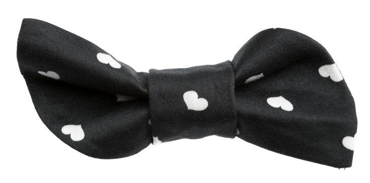 Black Onni print bow || Musta Onni-kuosilla somistettu rusetti