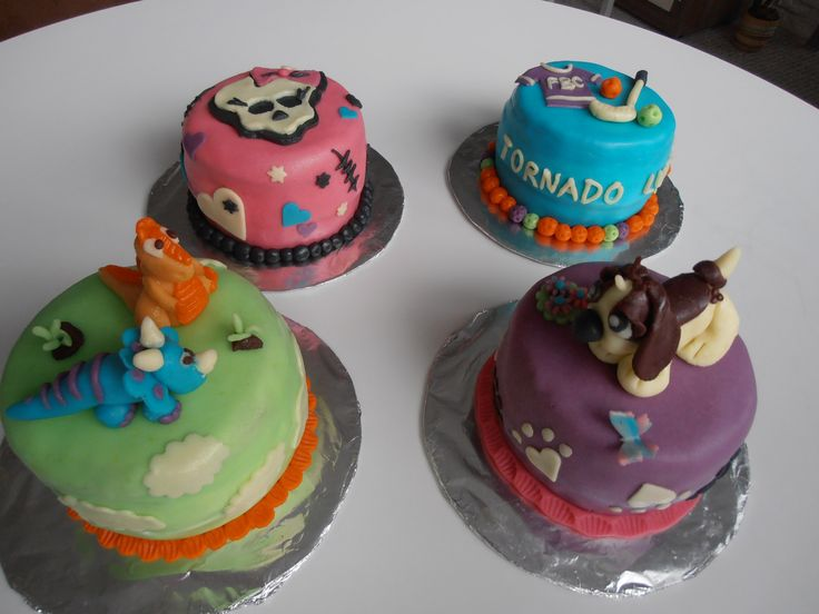 Puppy, Monster high, florball, dino cake