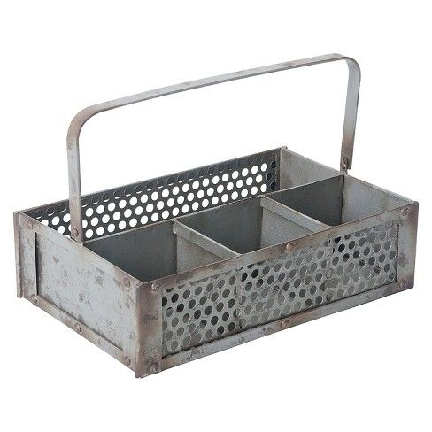 You'll never have to hunt for your garden tools again with the Farmhouse Garden Caddy from Home & Garden. If you're an avid gardener, you probably have a few tools that you use everywhere in your garden, and this metal caddy makes it easy to move them with a tough handle. With its four compartments, you'll be able to keep your tools organized while you carry it and, when you put it in your shed, you don't have to remove the tools because the vented sides let out any moistu...