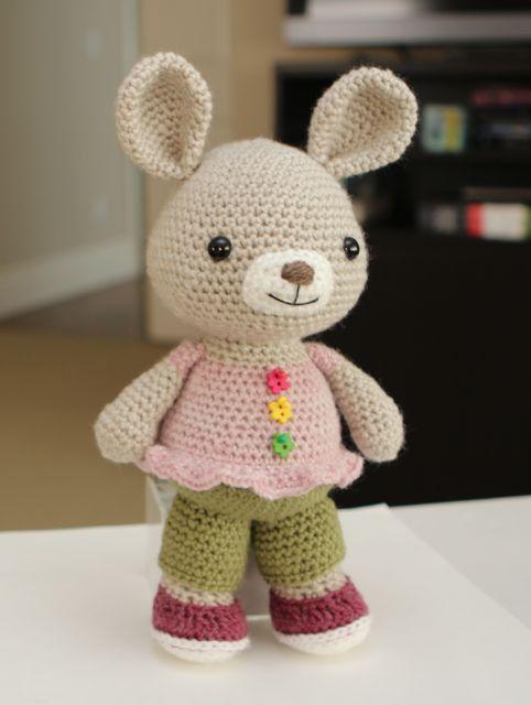 Crochet Patterns Rabbit : Amigurumi Crochet Pattern Rosie Bunny Rabbit by littlemuggles, $5.00