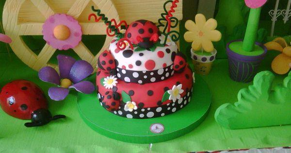 Torta De Mariquita en Pinterest | Tortas De Mariquita, Magdalenas ...