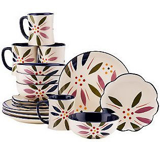 Temp-tations Hand Painted Stoneware 16-pc. Dinnerware Set  sc 1 st  Pinterest & 77 best Temptations Dishes images on Pinterest | Dinnerware Dish ...