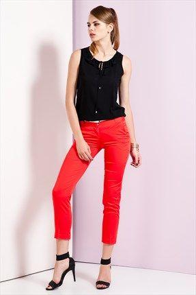 Ruj by SLN  - Kırmızı Pantolon 61498