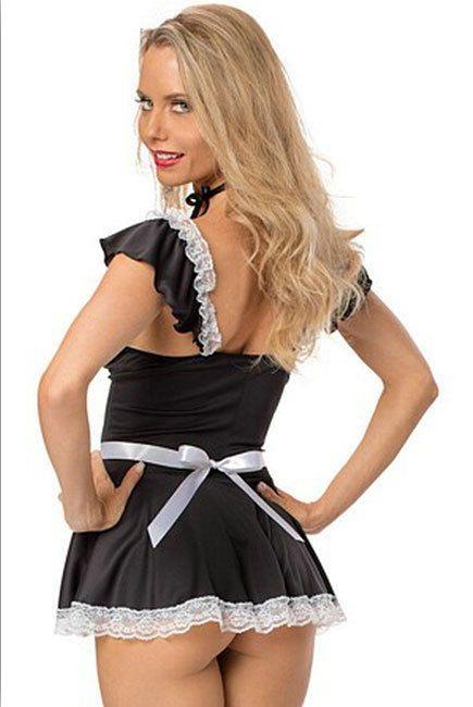 0266cff4672 Womens Sexy/Sissy Erotic Maid Fancy Dress Costume Cosplay Lingerie  (GB)#Erotic#Maid#Sissy