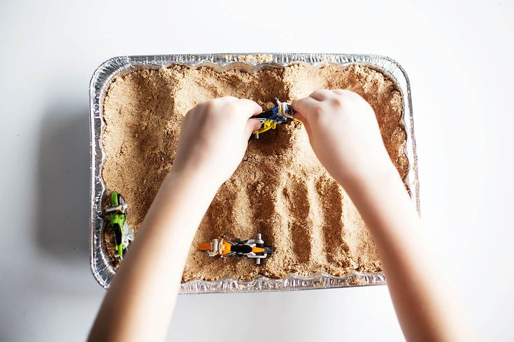 We are a big motocross family. We've loved it since the boys were little. I had a box of dirt bike toys that we'd take to the track when they were toddlers and they'd make their own tracks right in the dirt to play on. This DIY sand is perfect for making tracks out of...Read More »