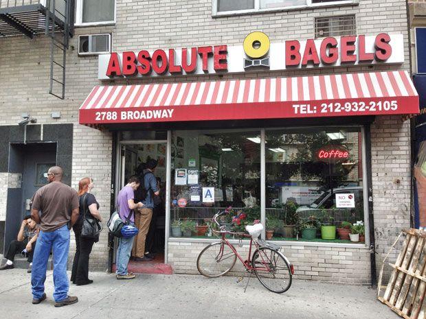 Absolute bagels, las mejores bagels de New York