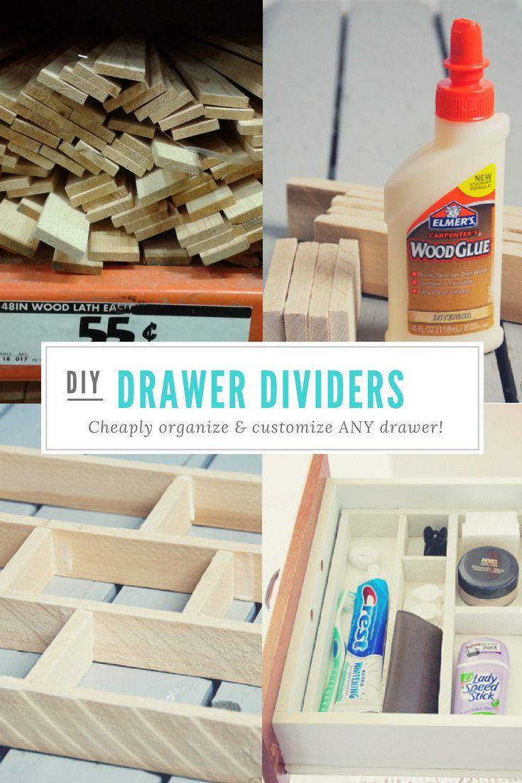 Easy and Affordable- DIY DRAWER ORGANIZER