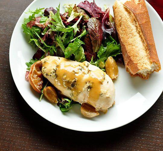 Lemon Garlic Chicken in slow cooker using whole chicken (for gravy ...