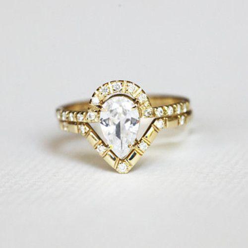 ペアダイヤモンドウェディングセットリング