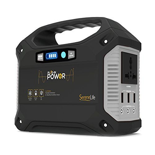 Serenelife Portable Generator 155wh Power Station Quiet