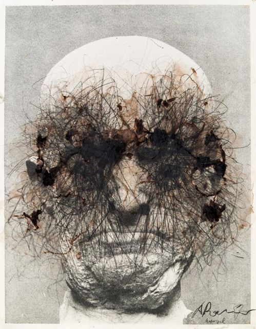 Arnulf Rainer Wenzel, gouache on paper