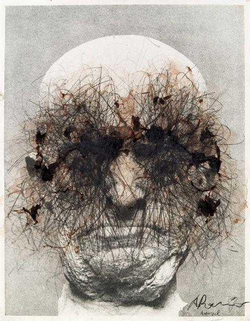 Arnulf Rainer Wenzel, gouache on paper
