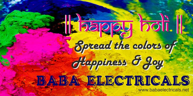 Spread the colors of happiness and joy. Happy Holi!!! http://goo.gl/HzaZmm