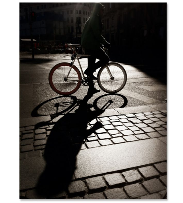 KBH Biker, Luke Lorimer. Where: This photo was taken near Kongens Nytorv, København. How: Printed on high quality 220g paper. grayscale or color. Buy this piece on www.artrebels.com #artrebels #photography #art