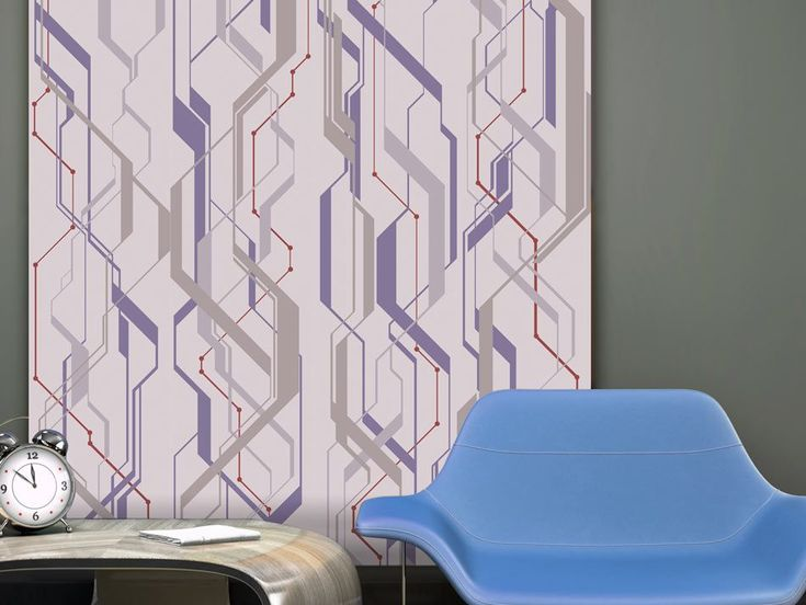 Tapeta - Subway #style #home #wallart #inspirace # #waterproof #cover #útulné #violet #pruhy