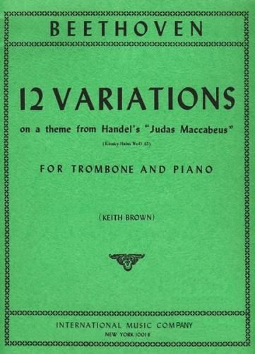 12 Variations on a theme from 'Judas Maccabeus' (Trombone & Piano)