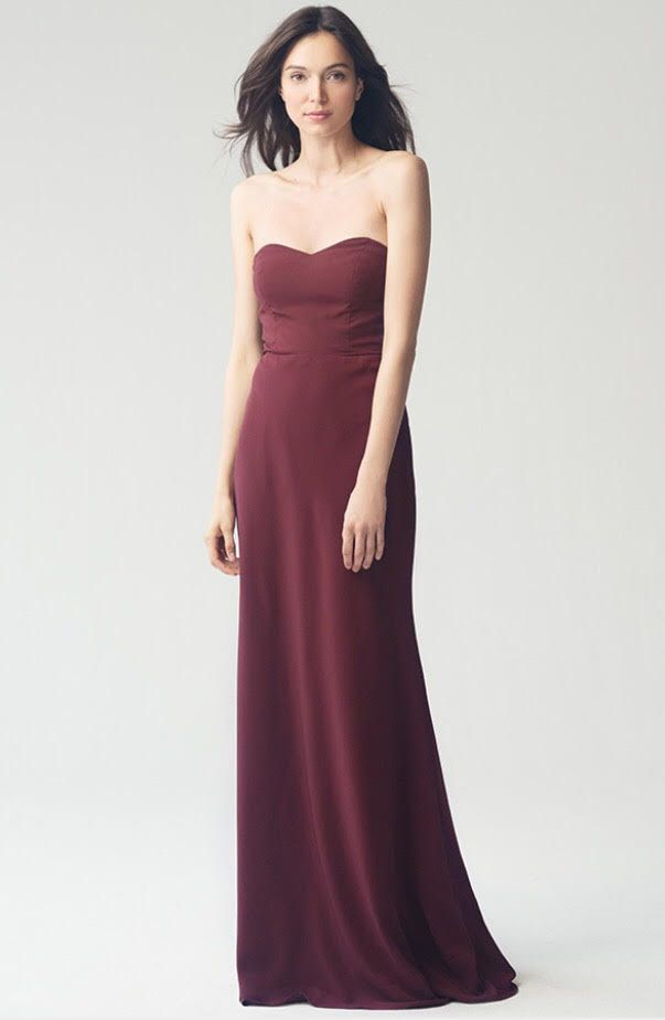 68567e6a540 The Kylie dress features a strapless sweetheart neckline. A dramatic tie in  the back adds a cutout and creates a modern look that slims the waist and  ...