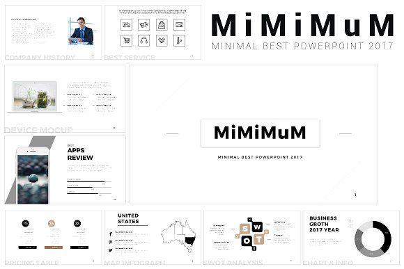 Mimimum Keynote Template by ZAAS on @creativemarket