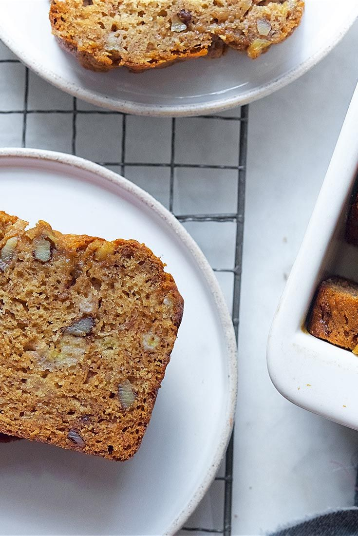 Banana Bread Recipe,  See tip to reduce sugar  ( and maybe butter).