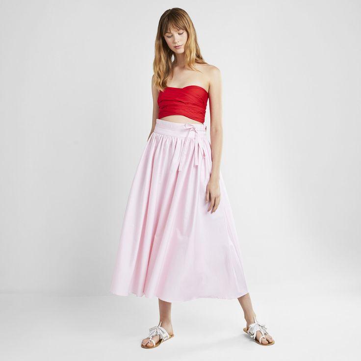 MDS Stripes   High-Waist Peasant Skirt   Goop