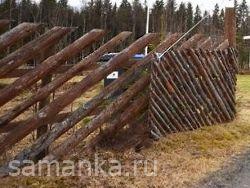 Делаем забор из горбыля своими