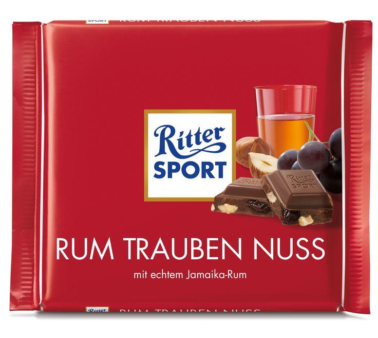 RITTER SPORT #Rum #Trauben #Nuss #Schokolade