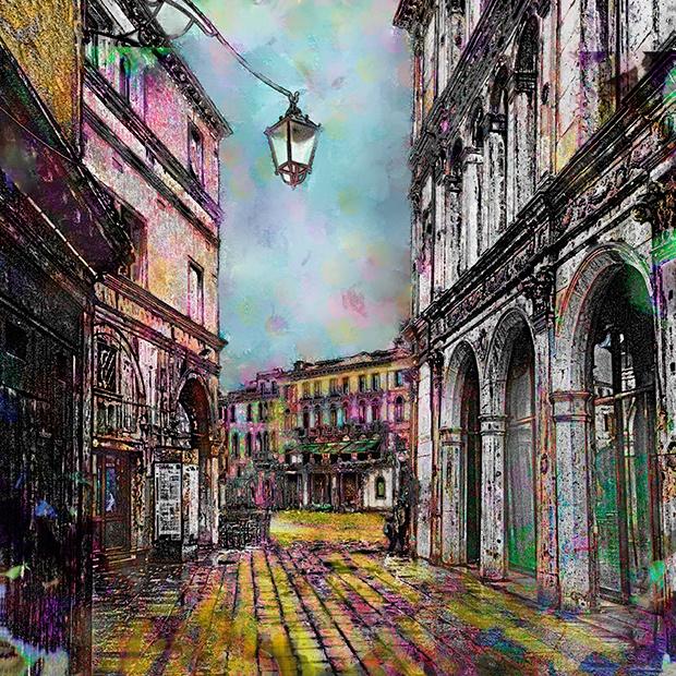 A View To Campo Santa Margherita Venice Italy By Steven Boone Arte Italia Pintura Y Dibujo