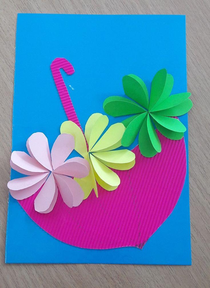 Открытки к дню мамы из цветной бумаги