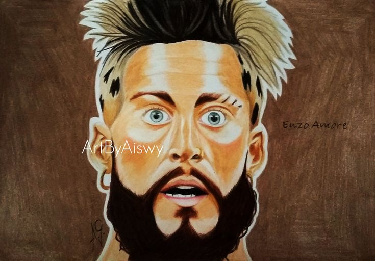 Drawing of WWE NXT Enzo Amore. SAWFT. Used: colored pencils.