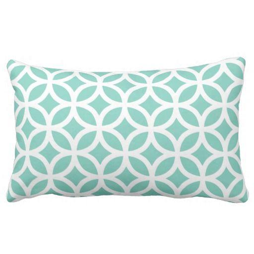 Turquesa geométrica almohadas