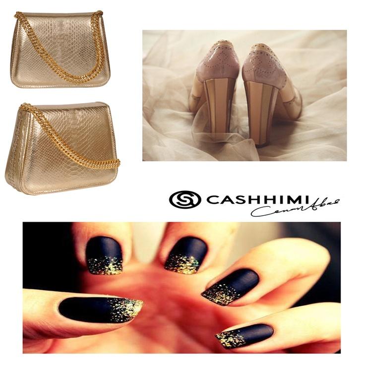 Cashhimi Gold KING Python Clutch