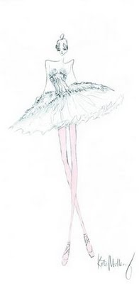 "One of Rodarte's costume sketches for ""Black Swan"": Costume Designs, Fashion Sketches, Ballerinas, Rodarte S Costume, Costume Illustration, It S Costumes, Rodartes Costume, Costumes 101"