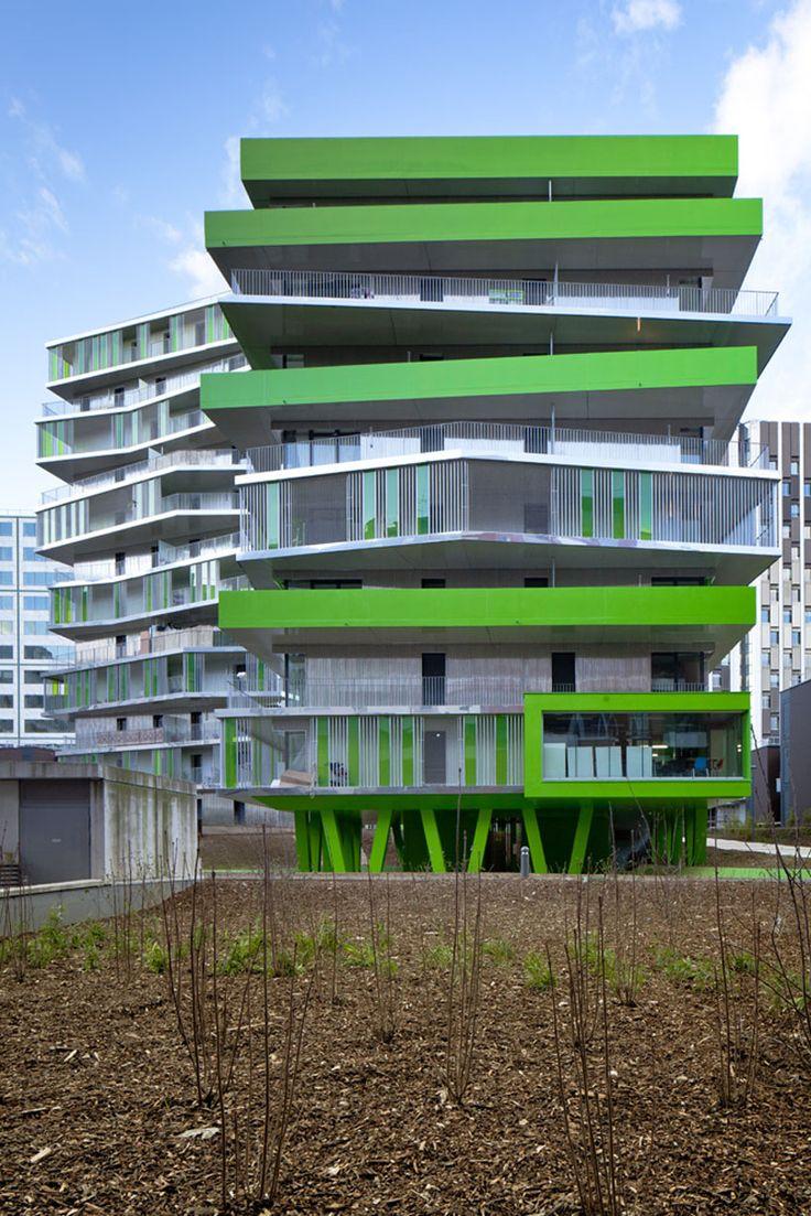 hamonic+masson: villiot rapee, Paris: Contemporary Architecture, Big Architecture, Architecture Porn, Architecture Inspiration, Exterior Architecture, Design