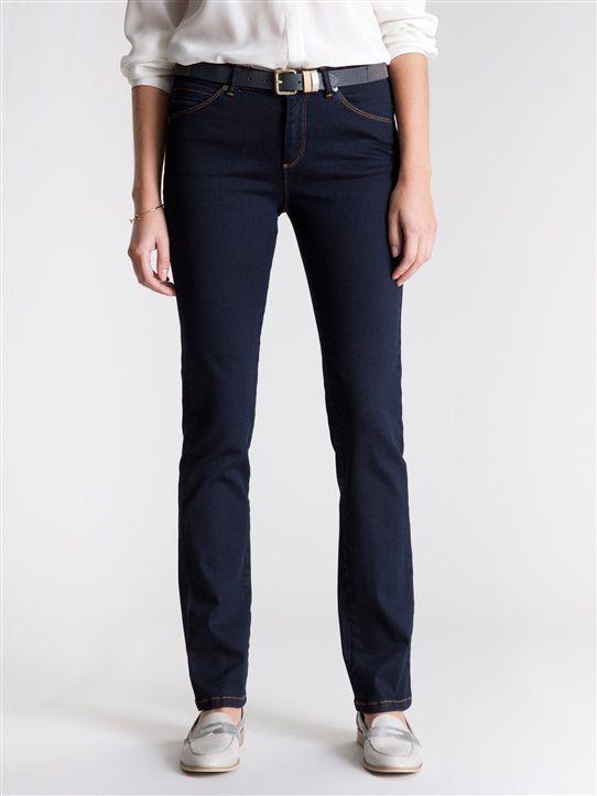 Damen-Jeans, gerade Passform JEANSBLAU