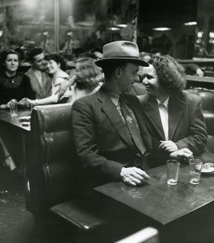 """tryagainr: """"Robert Doisneau. """"Middle-aged couple come to the bals-musette"""". 1950. Paris, France. """""""