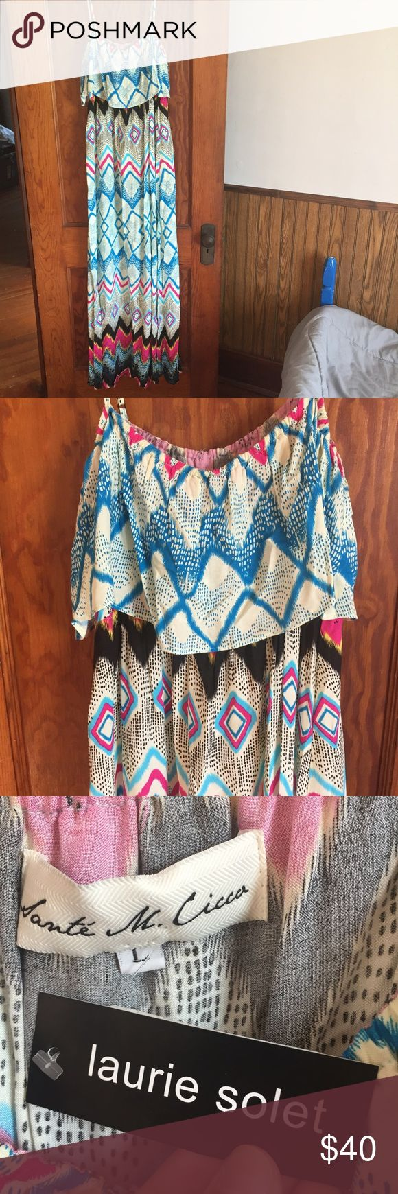 Tribal Maxi Dress from Nordstroms Bought at Nordstroms. New with tags. Hangs super nice! Nordstrom Dresses Maxi