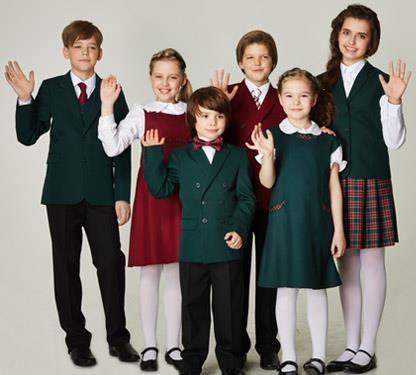Школьная форма зелёного цвета жакет и юбка