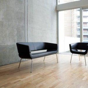 Strak, leder, chroom. Prachtig ontwerp. Senator / Allermuir http://www.kantoorinrichters.nl/banken-en-fauteuils