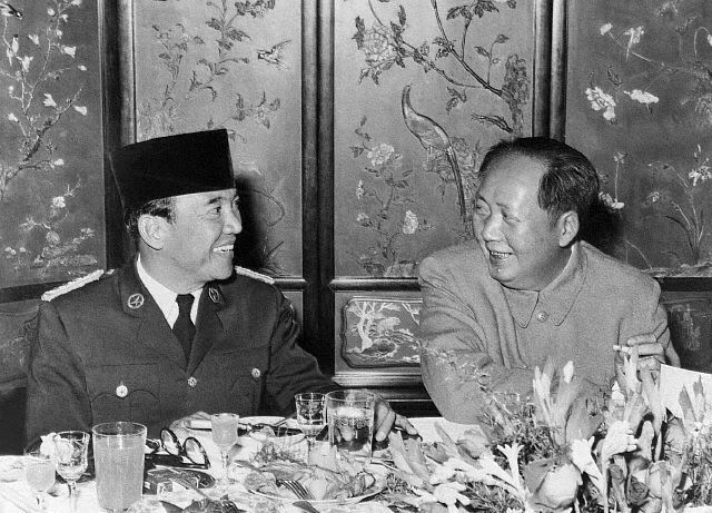 President Soekarno and Mao Tse Tung