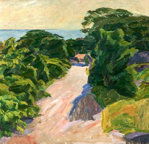 Forrest road, Christiansø , Danish 1920 - Edvard Weie