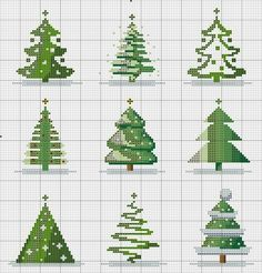 Christmas trees aplenty! No instructions - just enlarge the chart where you find the tree you want to stitch.