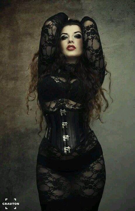 Gothic fashion model La Esmeralda